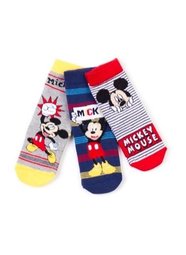Mickey Mouse Disney 6'lı Soket Çorap 17065 Kırmızı